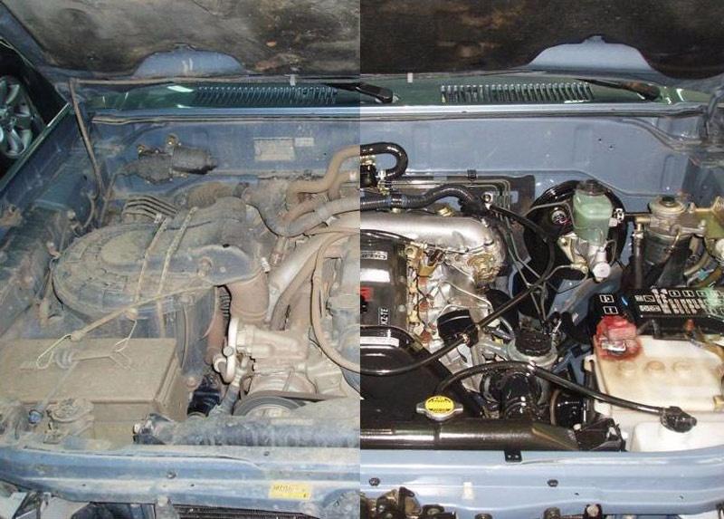 Como limpiar un motor de coche gasolina coche for Como lavar el motor de un carro